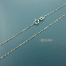"""16"""" Solid Sterling Silver 1.3mm Flat Cable Chain Necklace w/ Spring Ring Clasp"""