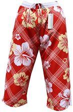 Bermuda Cargo Pantaloncini Da Bagno Costume Da Bagno Rosso Scuro 3/4 in S M L XL XXL XXXL 2xl 3xl