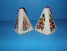 SET 0F 2 PORCELAIN POMANDER ORNAMENT POTPOURRI HOLDERS BEAUTIFULLY DECORATED