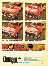 1967 CAMARO POSTER 24 x 36 INCH   AD   ONE OF A KIND!
