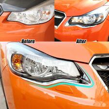 Front Headlight Lamp Eyelid Chrome Cover Trim For Subaru XV Crosstrek 2013 2014