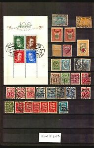 EESTI ESTLAND ESTONIA BLOCK #2 USED CV 100 EURO AND OTHER STAMPS