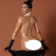 Kim Kardashian Movie Actor Star Fabric Art Cloth Poster 13inch x 13inch Decor 34