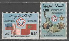 """MAROC:  n°763/764 **, """"bicentenaire de l'indépendance des Etats-Unis"""""""