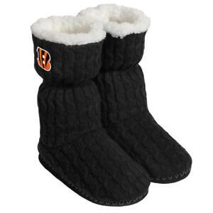 Cincinnati Bengals NFL Women's Black Bootie Slippers Size XL (11/12) - NWT