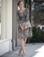Embellished Print Dress from Bravissimo by Pepperberry in Grey Mix RRP £59 (8)