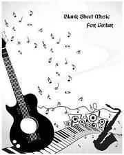 Blank Sheet Music for Guitar: Music Manuscript Paper / Musicians  by Ruby, Ella