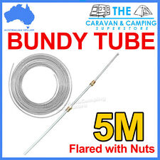 "x TRAILER BUNDY TUBE HYDRAULIC BRAKE LINE  3/16"" WITH NUTS 5M DOUBLE FLARED"