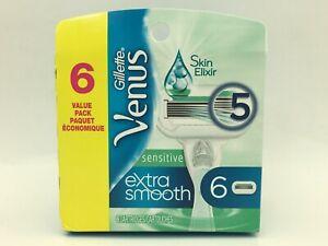Razor Blade Cartridges Venus Sensitive Extra Smooth Skin Elixer Gillette 6pk C15