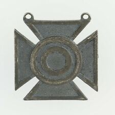 Military Marksman Target Cross Badge - Sterling Silver Vintage Service Pin