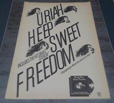Uriah Heep * Scarce Vintage 1973 Trade Ad Pin-Up Poster * Stealin' Sweet Freedom