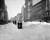 1905 Photo of Fifth Avenue after a Heavy Snow Storm, New York City