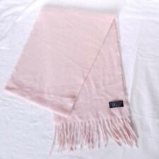 2 x Pink 100% Cashmere Unisex Scarves with Fringe Scarf Job Lot