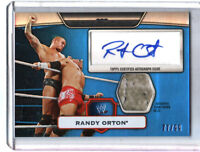 WWE Randy Orton 2010 Topps Platinum BLUE Autograph Relic Card SN 77 of 99