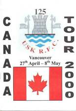 USK TOUR OF CANADA 2000 RUGBY BOOKLET