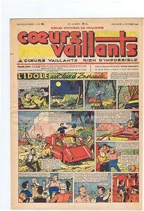 Coeurs Vaillants n°40 de 1948 - Tintin temple du soleil