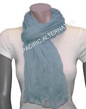 Foulard Bleu clair grand gros 110x170 femme mixte chale echarpe NEUF scarf schal