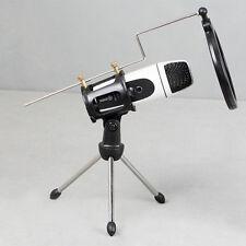 Adjustable Studio Microphone Mic Shock Mount Clip Holder Pop Filter w/ Tripod