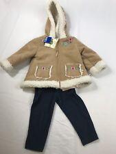 Little Me Baby Girls' 12M 3 Piece Jacket, Tee And Leggings Set