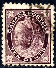 1897-98 Canada Sg 149 10c brownish purple Fine Used