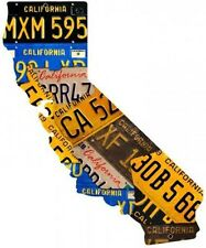 "California License Plate Plasma Cut Metal Sign ( 28"" by 24"" )"