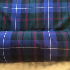 Pure new wool worsted ,blue,Tartan fabric. Ancient hunting McCrae
