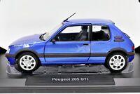 MODELLINO AUTO SCALA 1:18 PEUGEOT 205 GTI DIECAST CAR MODEL NOREV MODELO COCHE