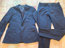 Blue Asos Mens Suit 42r Chest Skinny Trousers 34r W34 L32 Formal Wedding