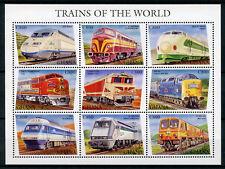 Ghana 1998 MNH Trains of World Bullet Train Deltic 9v M/S II Railways Stamps
