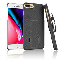 Slim Holster Belt Clip Combo Hard Case W/Kickstand Cover For iPhone SE2 7 8 Plus