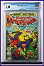 Amazing Spider-Man #159 CGC Graded 5.0 Marvel 1976 Newsstand Edition Comic Book.
