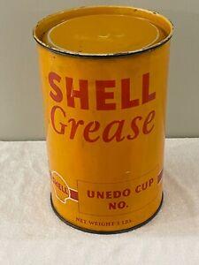 Vintage Shell Grease Tin - Motor Oil Petrol Tin