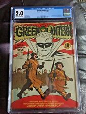GREEN LANTERN COMICS #4 CGC GD 2.0; OW; Green Lantern joins the army!