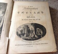 THE ANTIQUITIES OF ENGLAND & WALES VOL II 1774 BOOK WITH RARE ENGRAVINGS