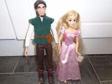 disney store original disney princess rapunzel and flynn rider dolls