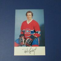 BOB GAINEY   1976-77  Montreal Canadiens  postcard 1977  Minnesota North Stars