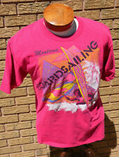 New listing Windsurfing T-Shirt graphic print neon L single stitch puffy Xl Montana 46 Vtg