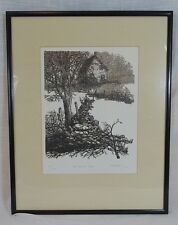 "A Vintage Colored Woodcut? Print #220/250 ""On The Old Road"" By Frank Eckmair"
