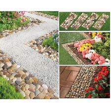 Outdoor Stepping Stones 4P Walkway Decoration Garden Border Path Mat Yard Edging