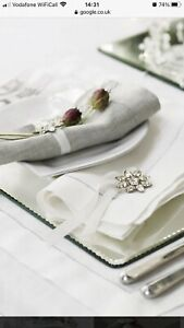 White Company Mirrored Placemats - 8 In Total