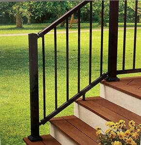 FIBERON Elements Black Aluminum 6-ft Stair Kit with Balusters #961311