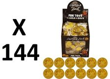 144 PLASTIC GOLD PIRATE TREASURE COINS LOOT GOODY PARTY BAG PINNATA FILLERS TOYS