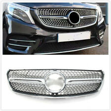 For Mercedes Benz V class W447 2015-2018 Diamond Front Grill Chrome W/ Camera WO