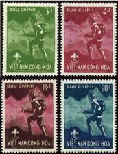 SOUTH VIETNAM 1959 National Boy Scout Jamboree 124-127 Hướng Đạo MLH Mint Hinged