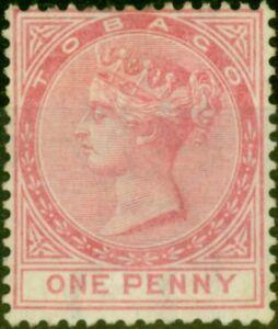 Tobago 1879 1d Rose SG1 Fine Unused Stamp