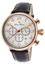 Lucien Piccard Trieste GMT Chronograph Mens Watch 72415-RG-02S