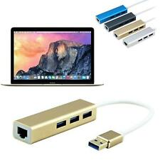 Macbook USB 3.0 auf RJ45 Lan-Karte Gigabit Ethernet-Netzwerkadapter+3 Port Hub