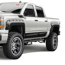 14-18 Silverado 1500 Short Bed Warn Industries Custom Fender Flares Black 102023