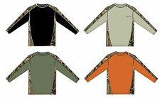 Bimini Bay Outfitters and Mossy Oak LS PIECED CAMO Cabo Crew Style Shirt