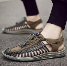 Men's Casual Gladiator Sandals Summer Outdoor Strappy Sports Shoes Hollow Comfy